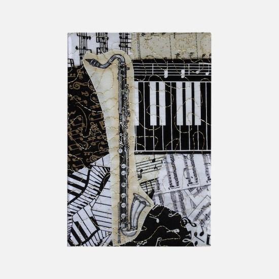 bass-clarinet-ornament Rectangle Magnet