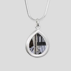 bass-clarinet-ornament Silver Teardrop Necklace