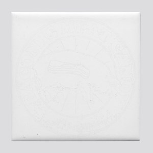 Meat Candy Distressed- White Tile Coaster