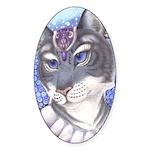 """""""Regal Tigress"""" (sticker, oval)"""