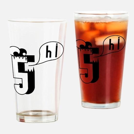 HI5 Monster Drinking Glass