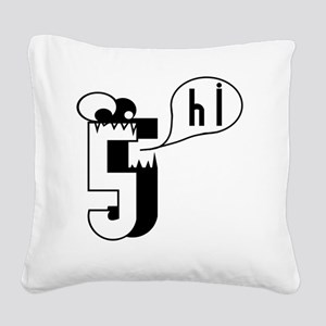 HI5 Monster Square Canvas Pillow