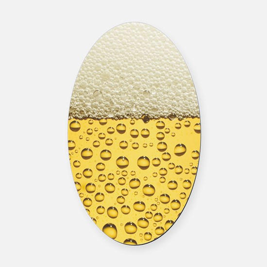 Beer Bubbles Oval Car Magnet