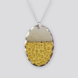 Beer Bubbles Necklace Oval Charm