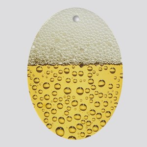 Beer Bubbles Oval Ornament
