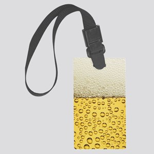Beer Bubbles Large Luggage Tag