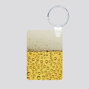 Beer Bubbles Aluminum Photo Keychain