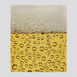 Beer Bubbles Throw Blanket