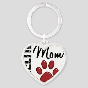 D Sheltie Mom 2 Heart Keychain