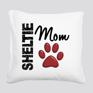 D Sheltie Mom 2 Square Canvas Pillow