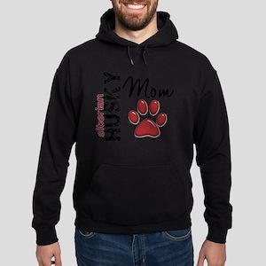 D Siberian Husky Mom 2 Hoodie (dark)