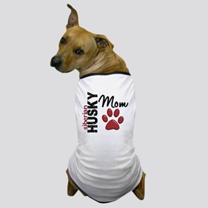D Siberian Husky Mom 2 Dog T-Shirt