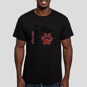 D Siberian Husky Mom 2 Men's Fitted T-Shirt (dark)