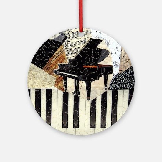 Piano9x8 Round Ornament