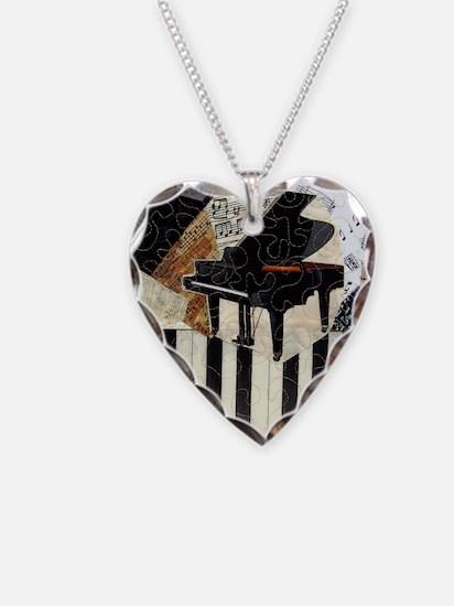 Piano9x7 Necklace Heart Charm