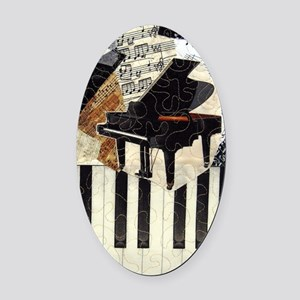 Piano9x7 Oval Car Magnet