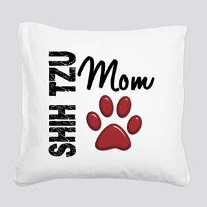 D Shih Tzu Mom 2 Square Canvas Pillow