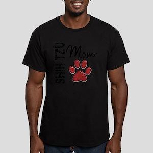 D Shih Tzu Mom 2 Men's Fitted T-Shirt (dark)