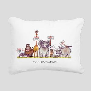 Occupy Safari Rectangular Canvas Pillow