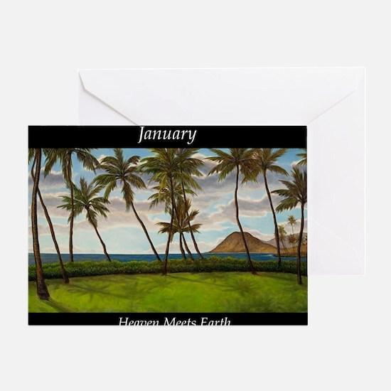 JanuaryHeavenMeetsEarth Greeting Card