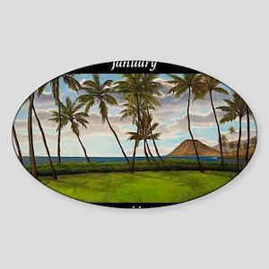 JanuaryHeavenMeetsEarth Sticker (Oval)