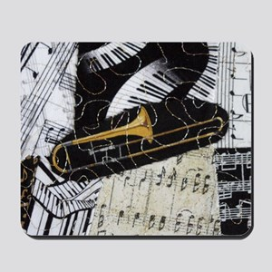 Trombone-ornament Mousepad