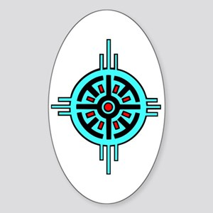 Medicine Wheel Oval Sticker