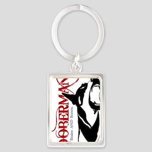 Doberman1--CLEAR Portrait Keychain