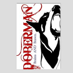 Doberman1--CLEAR Postcards (Package of 8)