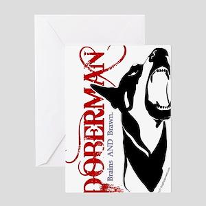 Doberman1--CLEAR Greeting Card
