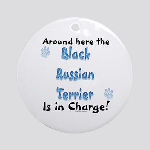 Black Russian Charge Ornament (Round)