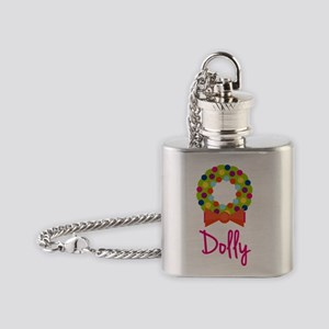 Christmas-wreath-Dolly Flask Necklace