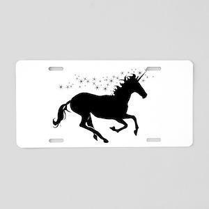 Magical Unicorn Silhouette Aluminum License Plate