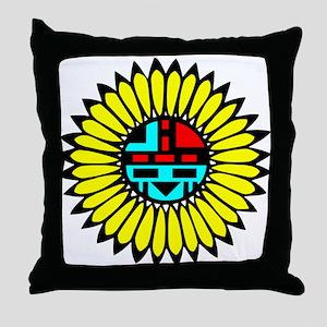 Indian Shield Throw Pillow
