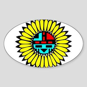 Indian Shield Oval Sticker