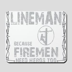 lineman because 1 Mousepad