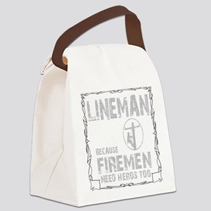 lineman because 1 Canvas Lunch Bag