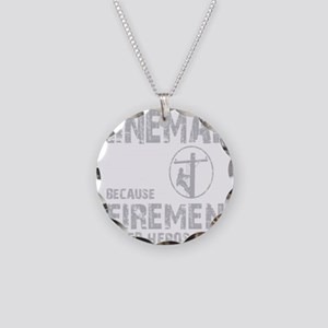 lineman because 1 Necklace Circle Charm