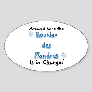Bouvier Charge Oval Sticker