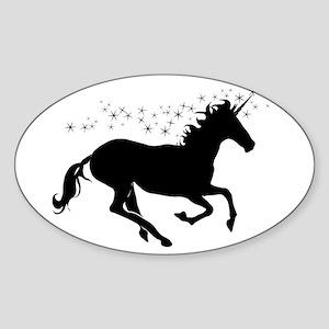 Magical Unicorn Silhouette Sticker