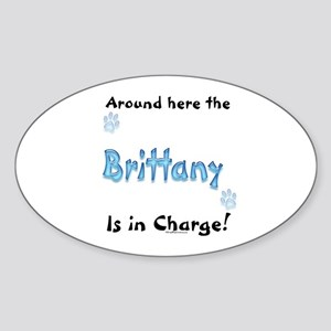 Brittany Charge Oval Sticker