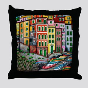 RiomaggioreProPicHS-AR Throw Pillow