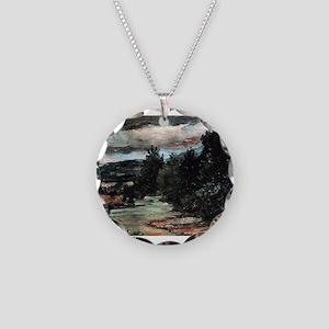 River in the plain - Paul Cezanne - c1880 Necklace