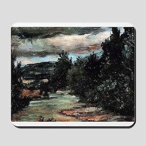 River in the plain - Paul Cezanne - c1880 Mousepad