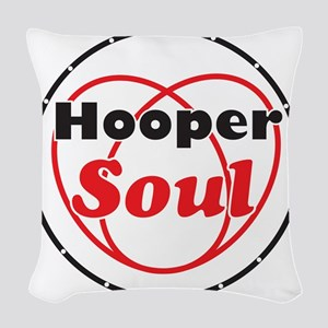 Red Soul Woven Throw Pillow
