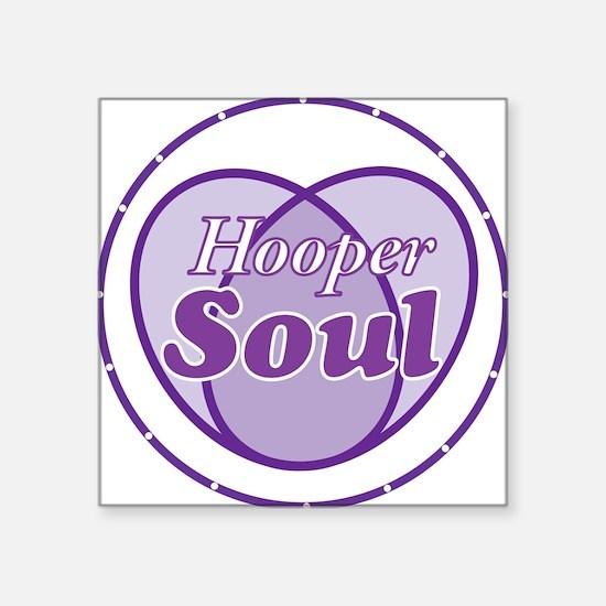 "Purple Hooper Soul Square Sticker 3"" x 3"""