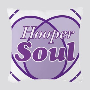 Purple Hooper Soul Woven Throw Pillow