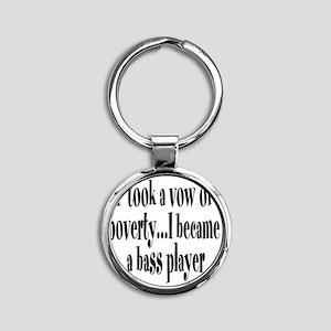B_bass_player Round Keychain