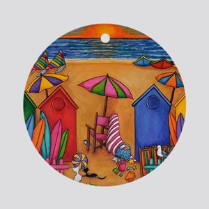 Summer Delight Round Ornament
