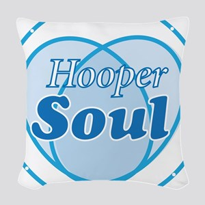 Hooper Soul Blue Woven Throw Pillow